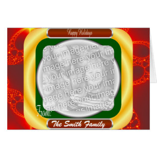 Customizable Holiday Frame with Fractal Card