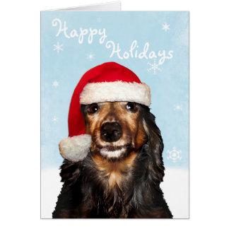Customizable Holidays Dachshund  Card
