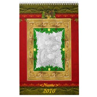 Customizable Holidays Photo Frames 2010 Calendar