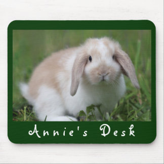 Customizable Holland Lop Bunny Mouse Pad