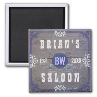 Customizable Home Bar Beer Saloon 2 Inch Square Magnet