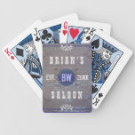 Customizable Home Bar Beer Saloon Bicycle Playing Cards