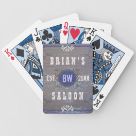 Customizable Home Bar Beer Saloon Deck Of Cards
