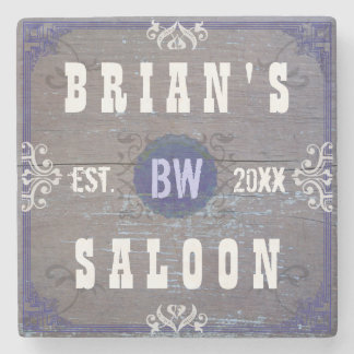 Customizable Home Bar Beer Saloon Stone Coaster