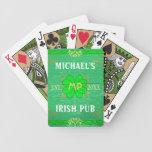 Customizable Home Bar Irish Pub Green Bicycle Poker Deck
