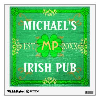 Customizable Home Bar Irish Pub Green Wall Decals