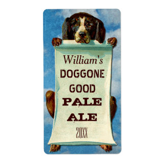 Customizable Home Beer Brewer: Vintage Dog Custom Shipping Labels