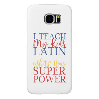 CUSTOMIZABLE Homeschool Latin Superhero Samsung Galaxy S6 Case