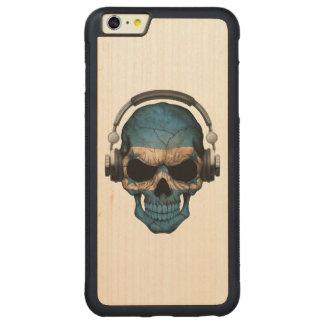Customizable Honduras Dj Skull with Headphones Carved® Maple iPhone 6 Plus Bumper