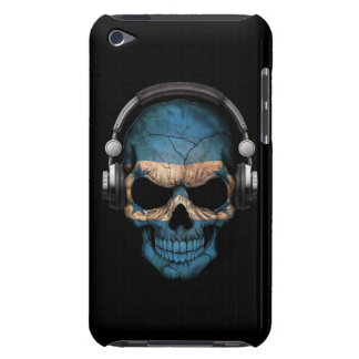 Customizable Honduras Dj Skull with Headphones Barely There iPod Cover