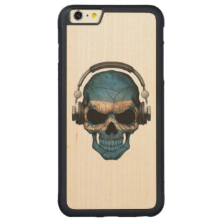 Customizable Honduras Dj Skull with Headphones Carved® Maple iPhone 6 Plus Bumper Case