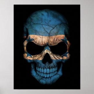 Customizable Honduras Flag Skull Print