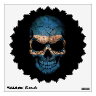 Customizable Honduras Flag Skull Wall Graphic