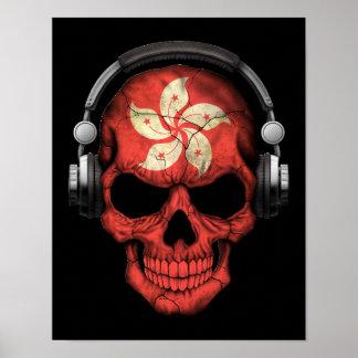 Customizable Hong Kong Dj Skull with Headphones Print