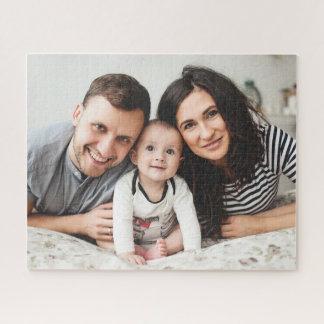 Customizable Horizontal Family Photo Puzzle