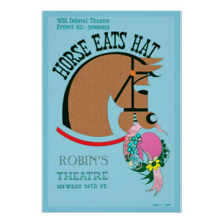 Customizable Horse Eats Hat Kids Poster