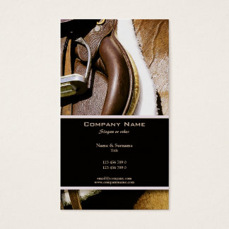 Customizable horse ranches stables rodeos business card