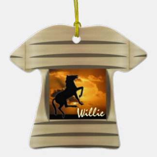 Customizable horse western christmas tree ornaments