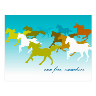 Customizable: Horses Postcard