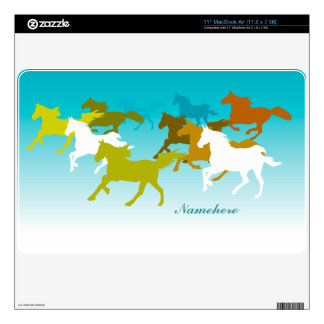 Customizable: Horses run free MacBook Skins