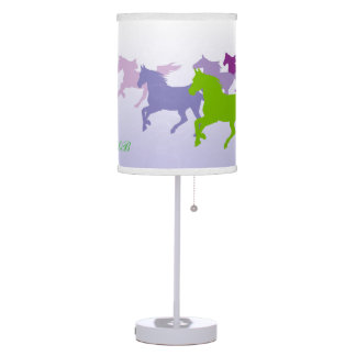 Customizable: Horses run free purple Desk Lamp