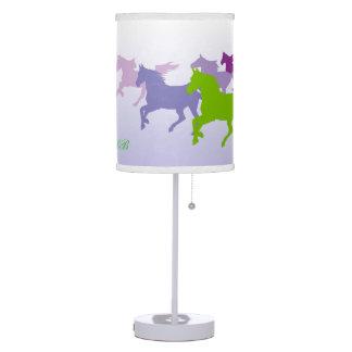 Customizable: Horses run free purple Lamps