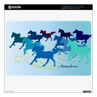 "Customizable: Horses run free - swirl Decal For 11"" MacBook Air"