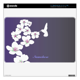 Customizable: Hummingbird and blossom Decals For MacBook