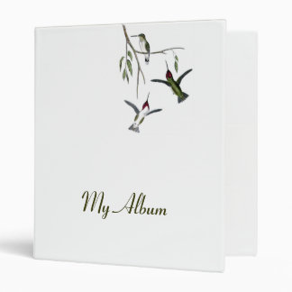 Customizable Hummingbird Binder Album