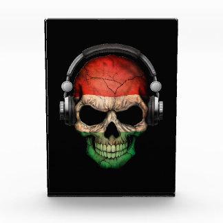 Customizable Hungarian Dj Skull with Headphones Awards