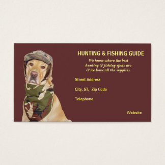 Hunting and fishing business cards templates zazzle customizable huntingfishing guide business card colourmoves