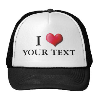 Customizable I Heart Hat 0001