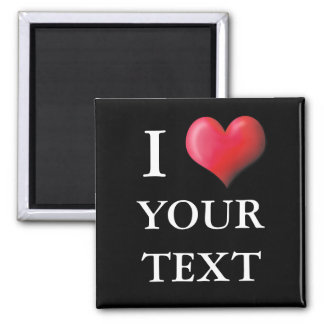 Customizable I Heart Magnet 0004