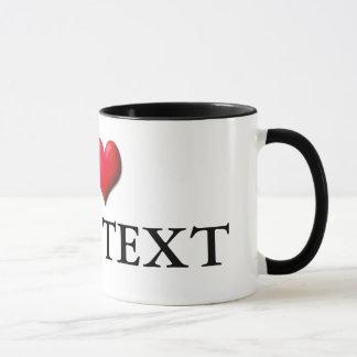 Customizable I Heart Mug 0001