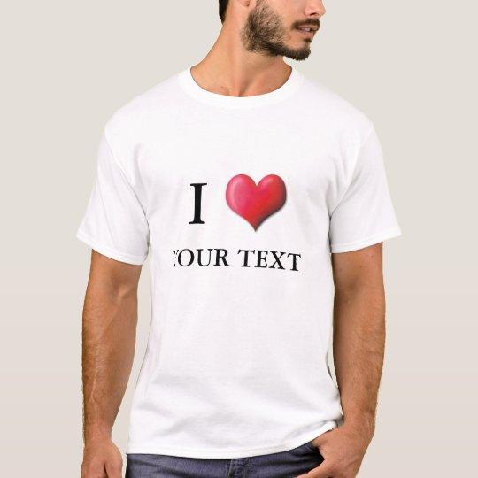 Customizable I Heart Shirt 0001