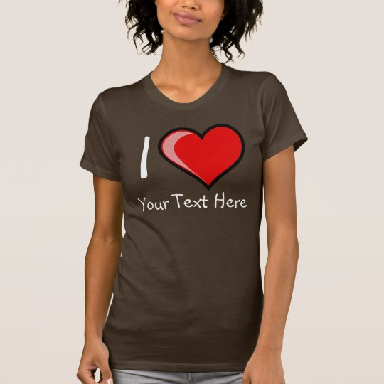 Customizable I Heart Womans Dark T-Shirt