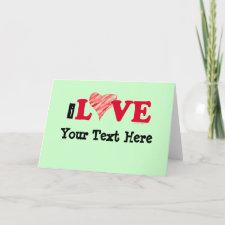 I Love card