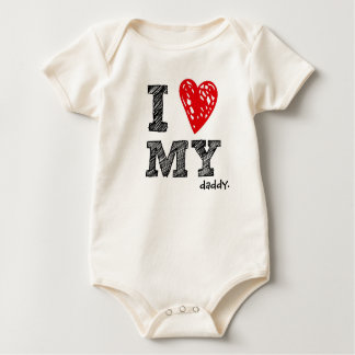 "Customizable ""I Love My ___ "" baby shirt"