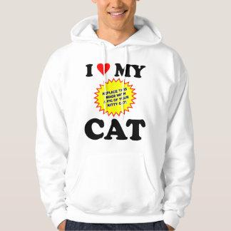 CUSTOMIZABLE I Love My Cat Hoodie