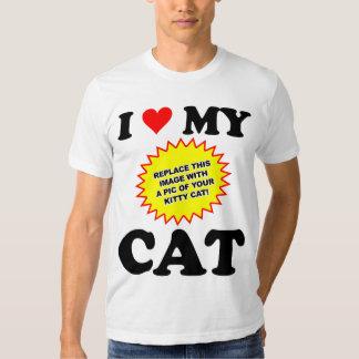 CUSTOMIZABLE I Love My Cat Shirts