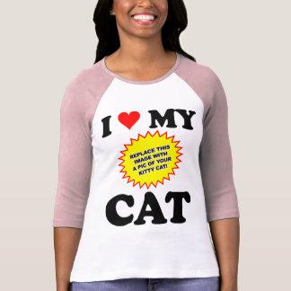 CUSTOMIZABLE I Love My Cat Tee Shirts