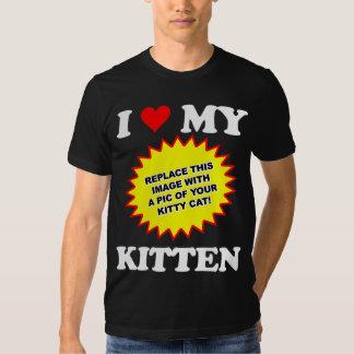 CUSTOMIZABLE I Love My Kitten Tshirts
