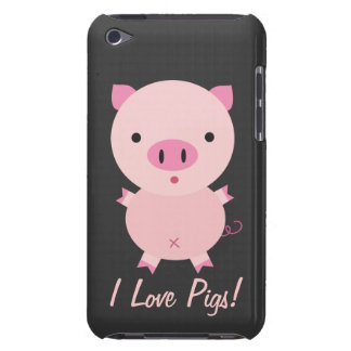 Customizable I Love Pigs iPod Case