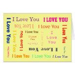 Customizable-I Love you Card