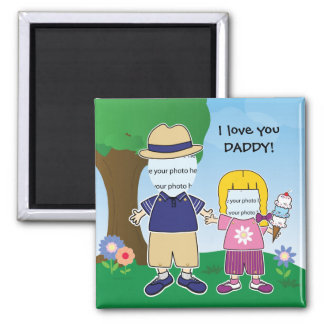 Customizable I Love You Daddy 2 Inch Square Magnet