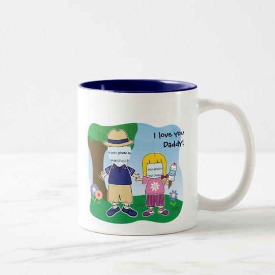Customizable I Love You Daddy Two-Tone Coffee Mug