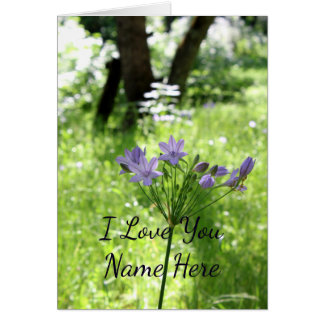 Customizable I Love You Wildflower Note Card