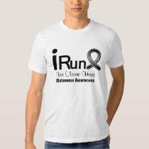 Customizable I Run For Melanoma Awareness Tee Shirt