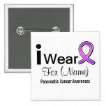 Customizable I Wear a Pancreatic Cancer Ribbon Pinback Button
