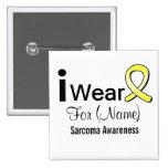 Customizable I Wear a Sarcoma Cancer Ribbon 2 Inch Square Button